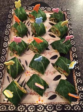 Collard Green Sushi